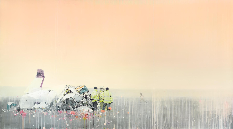 A non-egocentric death, acrílico, 150 x 270 cm, 2011