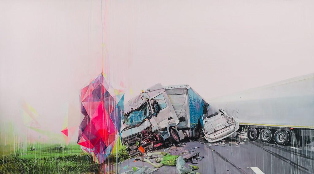 A lucid dream, acrílico, 150 x 270 cm, 2012