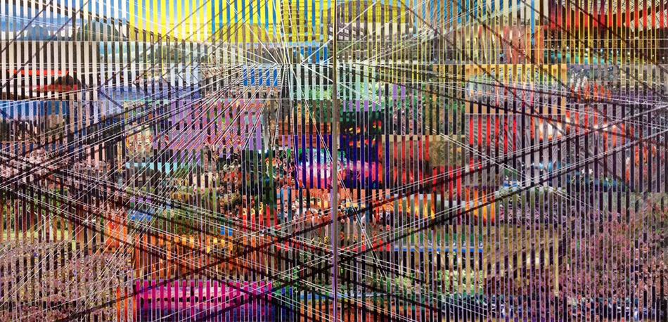 reminisecensia 1, 125 x 250 cms, técnica mixta