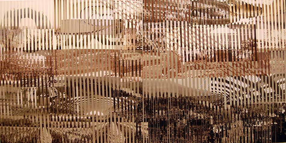 reminisecensia 2, 125 x 250 cms, técnica mixta