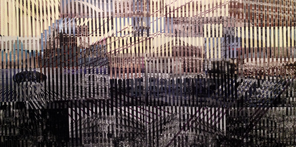 reminisecensia 4, 125 x 250 cms, técnica mixta