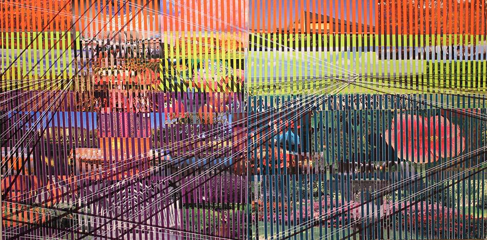 reminisecensia 5, 125 x 250 cms, técnica mixta