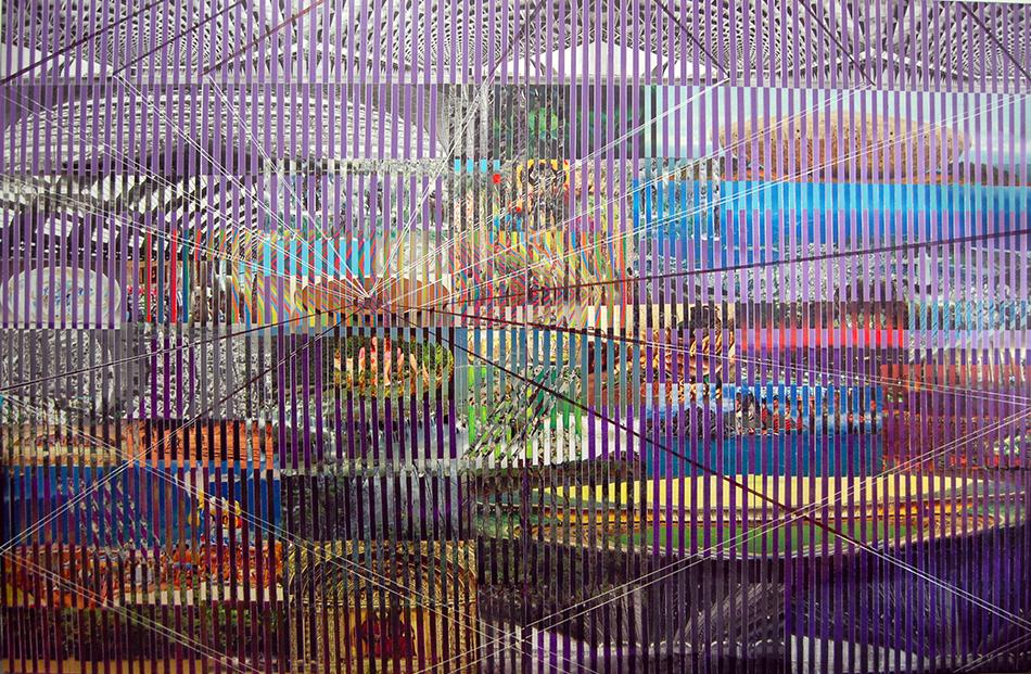 wild sophistication 2, 200 x 300 cms, técnica mixta