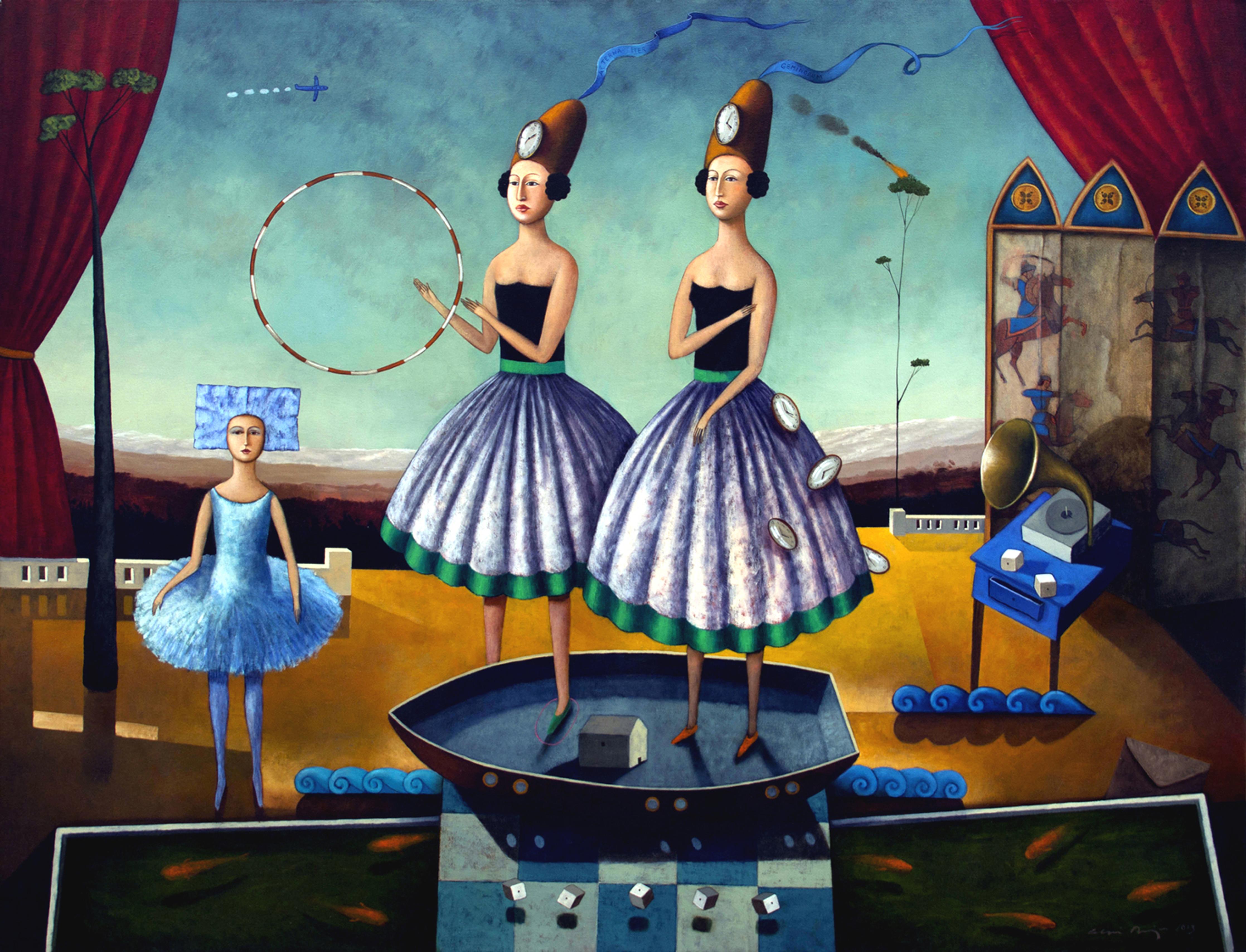 eterno viaje de las gemelas. 120x 150 2013