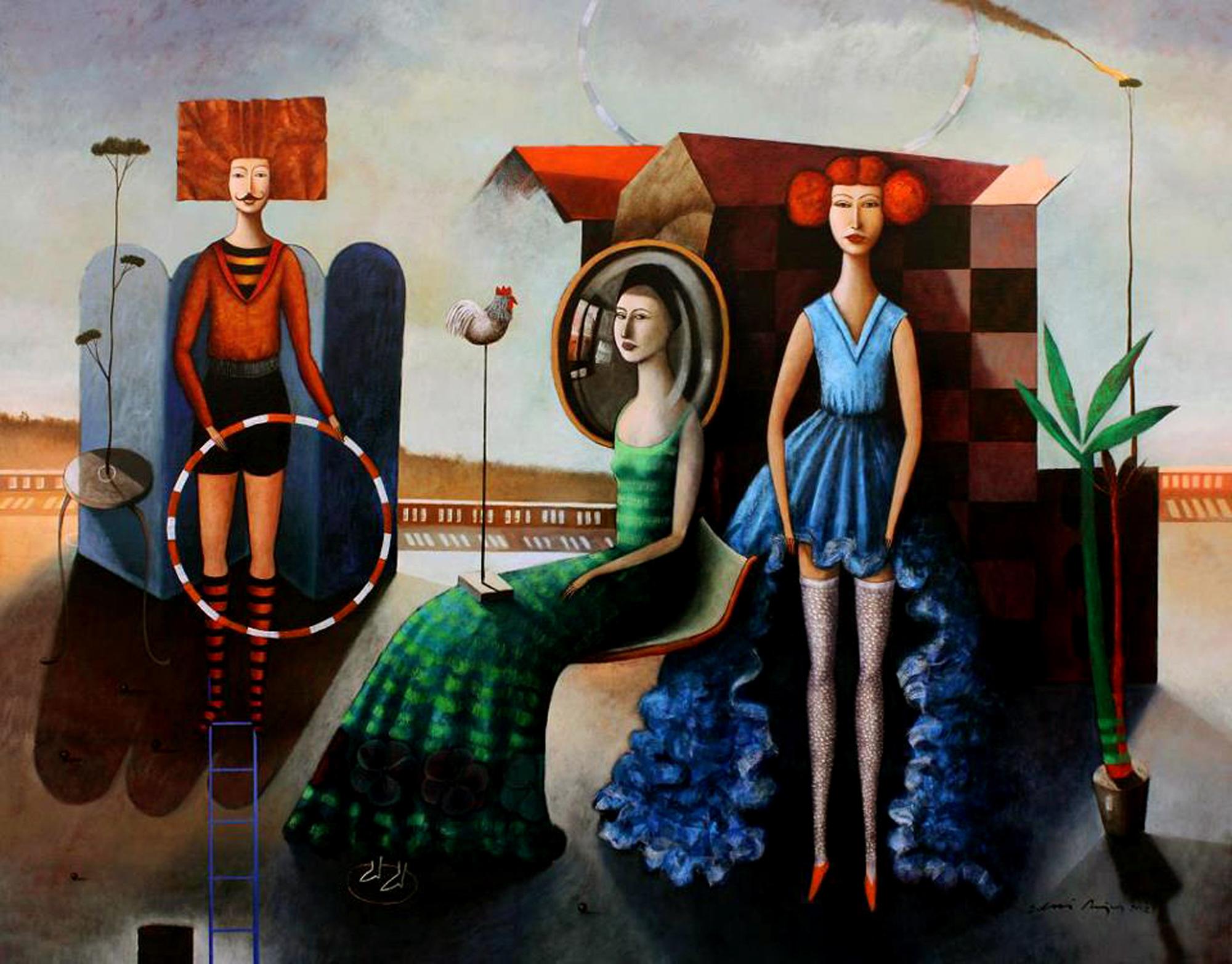 la dama del espejo. 100X130. 2013