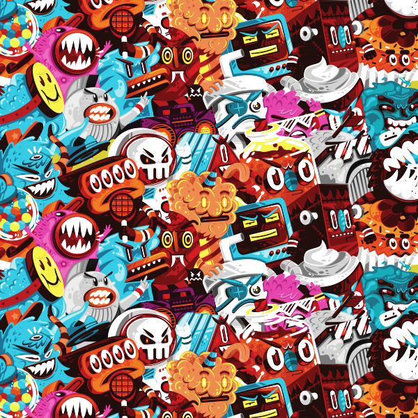 patrón monstruos