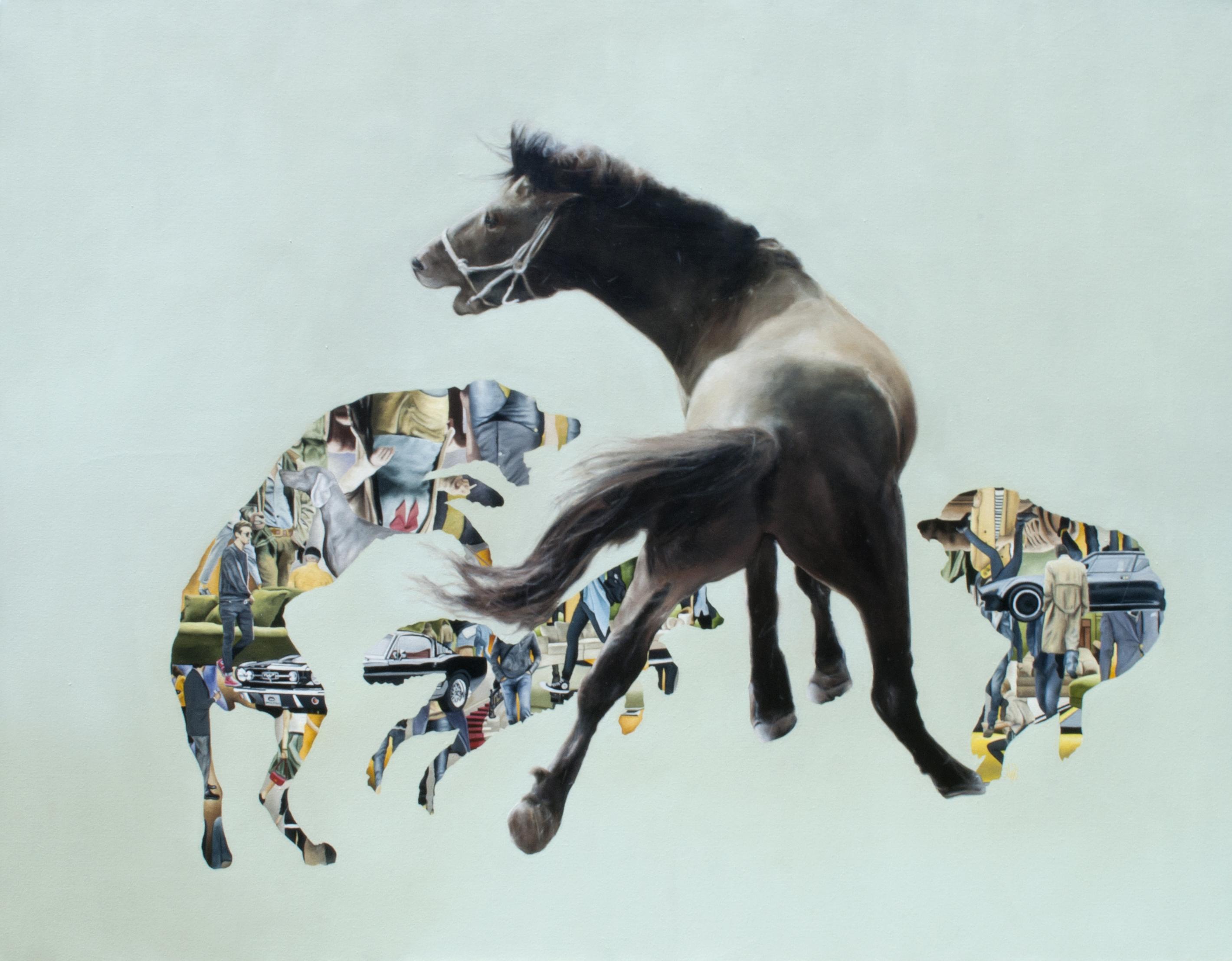 Survivor of the fittest 2, óleo sobre tela 130 x 180 cms, 2014