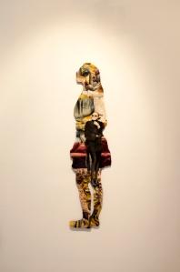 """Detalle """"El todo es mayor que la suma de sus partes"""" óleo y resina sobre corte de acrílico, 2014"""