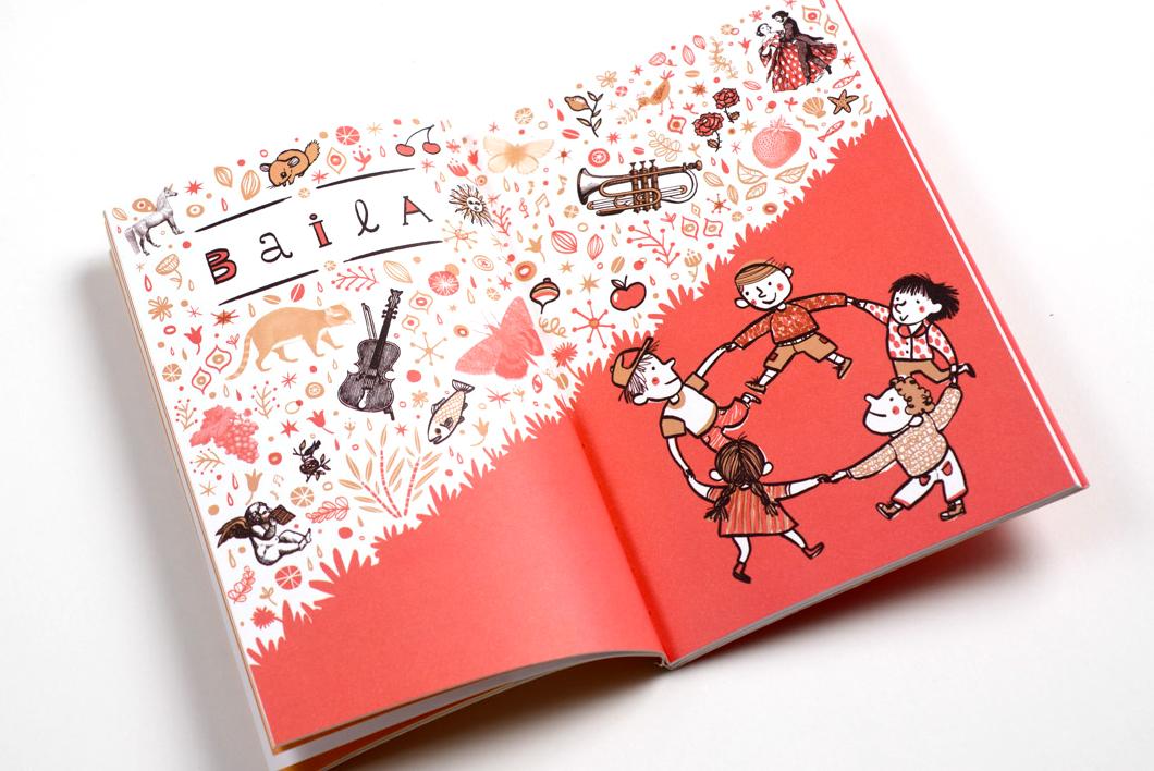 """Libro """"Baila y Sueña"""" canciones y poemas de Gabriela Mistral, Ediciones UC"""